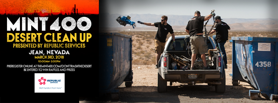 The 2018 Mint 400 Desert Clean Up Presented By Republic Services